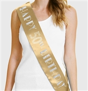 Happy 50th Birthday Foil & Rhinestone Sash | Birthday Sashes | RhinestoneSash.com