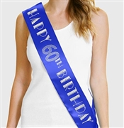 Happy 60th Birthday Foil & Rhinestone Sash | Birthday Sashes | RhinestoneSash.com