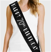 Happy 70th Birthday Foil & Rhinestone Sash | Birthday Sashes | RhinestoneSash.com