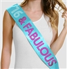 16 & Fabulous Hot Pink Foil and Rhinestone Sash | Birthday Sashes | RhinestoneSash.com