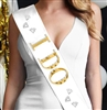 I Do Foil Sash | Bridal Shower Sashes | RhinestoneSash.com