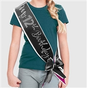 My 12th Birthday Rhinestone Sash | Premium Birthday Sashes | RhinestoneSash.com