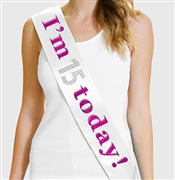 """I'm 15 Today!"" Sash 