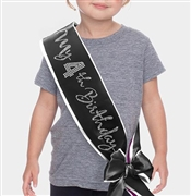 My 4th Birthday Rhinestone Sash | Child's Birthday Sash