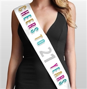 Cheers To 21 Years color foil & rhinestone 21st Birthday Sash
