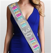 Cheers To 30 Years Multi Birthday Sash | 30th Birthday Party Accessory