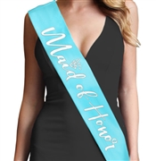 Silver Matter Maid of Honor Glam Sash