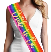 Rainbow Bride To Be w/Diamond Gold Foil Sash