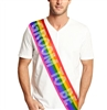 Rainbow Groom To Be Rhinestone Sash