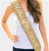 """Mother of the Groom"" Rhinestone Sash 
