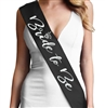 Silver Matte Bride to Be Glam Sash | Bridal Sashes | RhinestoneSash.com