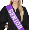 White Glitter Senior Sash