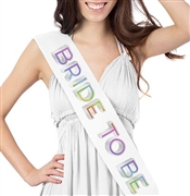 Rainbow Bride To Be Sash
