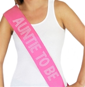 """Auntie To Be"" Rhinestone Sash"