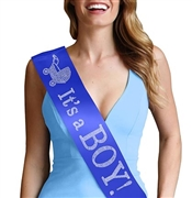 It's a Boy! Rhinestone Sash | Baby Shower Gifts | Gender Reveal Sash