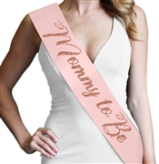 Mommy To Be Rose Gold Glitter Sash