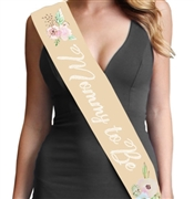 Mommy To Be Watercolor Sash | Baby Shower Sash