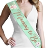 Mommy To Be Watercolor Rose Gold Glitter Sash | Baby Shower Sash