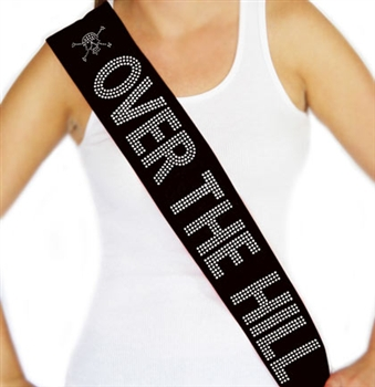 """Over The Hill"" Rhinestone Sash 