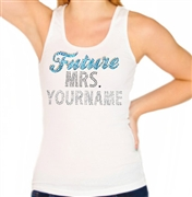 Future Mrs. Custom Rhinestone Tank Top with Blue