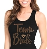Team Bride w/Diamond Rose Gold Rhinestud Tank