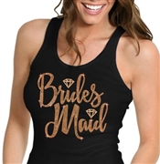 Bridesmaid w/Diamond Rose Gold Rhinestud Tank