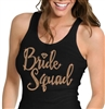 Bride Squad w/Diamond Rose Gold Rhinestud Tank