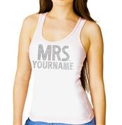 """Mrs."" Custom Rhinestone Tank Top"