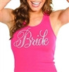 Hot Pink Flirty Bride Rhinestone Tank Top