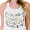 Bride Flowy Racerback Tank | Chevron Bride Tribe tank for the Bride