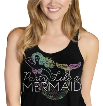Party Like A Mermaid Flowy Racerback Tank | RhinestoneSash.com