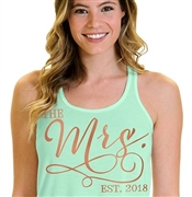 Future Mrs. w/Ring Glitter & Rhinestone Flowy Tank Top