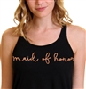 Maid of Honor Rose Gold Flowy Racerback Tank | Bridal Party Tops | RhinestoneSash.com