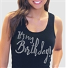 """It's My Birthday!"" Rhinestone Tank Top 