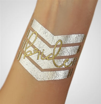 Chevron Bride Foil Temporary Tattoo