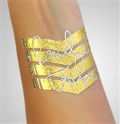 Chevron Bride Tribe Foil Temporary Tattoo