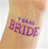 Sporty Team Bride Temporary Tattoo