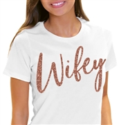 Rose Gold Wifey T-Shirt