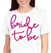 Bride to Be Lovely Pink Foil T-Shirt
