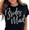 Bridesmaid Rose Gold T-Shirt | Bridal T-shirts | RhinestoneSash.com