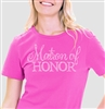 "Flirty ""Matron of Honor"" Rhinestone Tee 