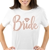 Bride w/Diamond Rose Gold Rhinestud T Shirt