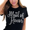 Maid of Honor w/Diamond Rhinestone T-Shirt| Bridal T-shirts | RhinestoneSash.com