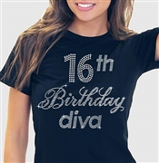16th Birthday Diva T-Shirt