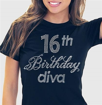 16th Birthday Diva T Shirt