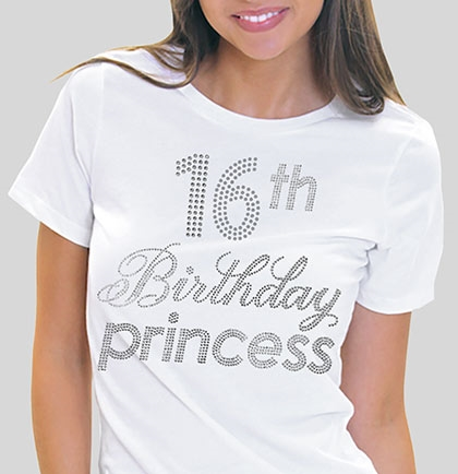 16th Birthday Princess T Shirt Larger Photo