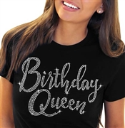 Birthday Girl Black Glitter T-Shirt
