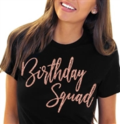 Birthday Squad Glam Rose Gold T-Shirt