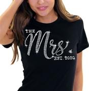 93a6d9f1 The Mrs. EST Chic Rhinestone T-Shirt| Bridal T-shirts | RhinestoneSash