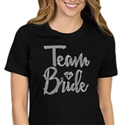 Team Bride w/Diamond Rhinestone T-Shirt | RhinestoneSash.com